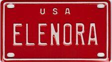VINTAGE MINI USA ELENORA LICENSE PLATE NAME TAG SIGN BICYCLE VANITY  (P59)