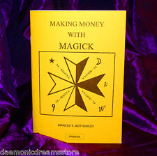 MAKING MONEY WITH MAGICK Finbarr. Marcus Bottomley. Grimoire. Magic. Witchcraft