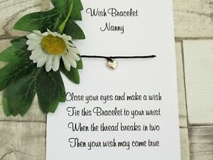 Nanny Wish Bracelet Friends Gift Tibetan Heart Charm Anklet Grandma Nan Nana