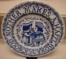 Tribute To Mother All Year Long Plate by Norma Sherman Staffordshire Mothers Day