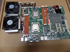 ASUS Z8NA-D6C, Socket 1366 Motherboard wiht 2 x Xeon E5520, fans  and I/O shield