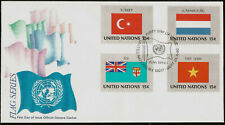 Flags of Vietnam Turkey Fiji Luxembourg United Nations Official First Day Cover
