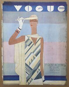 Cover Original Former Single Vogue Magazine Paris August 1929 Benito