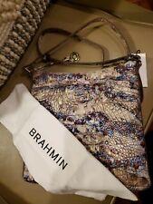 Brahmin Katie Stratus Melbourne Embossed Leather Crossbody NWT $215