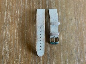 PRE-OWNED MICHELE White Leather Crystal Strap MS18AN620100