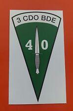 40 Comando Marina Real Pegatina de vinilo tintas Eco Solvente De Vinilo De 7-10 año