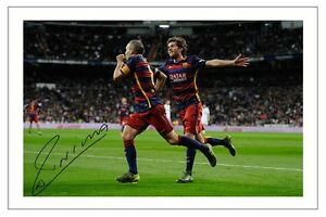 ANDRES INIESTA FC BARCELONA SIGNED PHOTO PRINT SOCCER