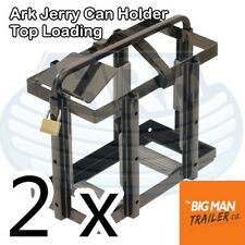 2xArk Jerry Can Holder Top Loading Capacity 20 L with Lock for Security JCH1020D