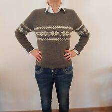 Damen Pullover Handgestrickt Norwegerpullover Gr. 36-38