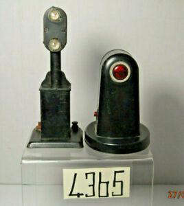 Vintage Marx Set of 2 Signals :Block Light &Circuit Breaker