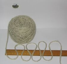 100g Ball 100 Pure British Undyed Swaledale Chunky Knitting Wool Cream Grey