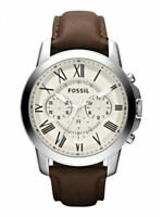 Fossil Men's Grant Chronograph Brown Leather Watch FS4735