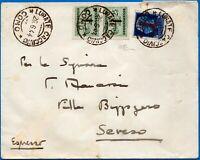 1944 - Lettera da Lurate Caccivio (Co) a Seveso - Rara affrancatura - Carraro
