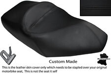 BLACK STITCH CUSTOM FITS PIAGGIO X8 125 DUAL LEATHER SEAT COVER ONLY