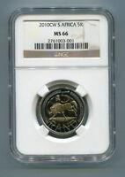 South Africa Coin World Oom Paul 2010 R5 Mint Mark Ngc 5R