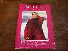 Bergere de France Explications Tricot 96/97 FRENCH LANGUAGE