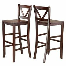 """2-pc 29"""" V Back Bar Stools Winsome 94259 Victor Stools, 29"""", Brown (BB5)"""