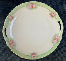 Vintage Hand Painted Nippon Green Crown Stamped Plate Elegant