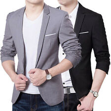New Stylish Men's Casual Slim Fit One Button Blazer Suit Blazer Coat Jacket Tops