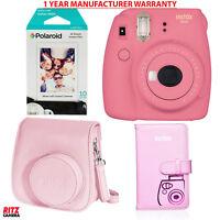 Fujifilm Instax Mini 9 Instant Camera - Polaroid Instant Mini Film, Case, Album