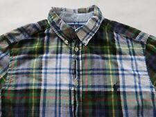 Polo Ralph Lauren Boys Cotton LS Button Up Multicolor Plaid Dress Shirt Youth XL