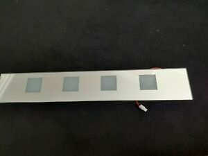Pebble Grey Pyrus Mirror Cabinet Replacement Glass Panel & LED Strip