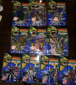 Trendmasters Godzilla King Of The Monsters Complete Set 1994 Super Rare Sealed!!