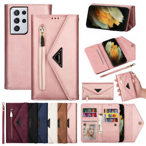 For Samsung Galaxy S21/S20 FE/Note 20 Ultra Case Leather Card Wallet Stand Cover