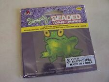 Simply BEADED  Frog Iron-On  Transfers ( Pack of 3 )