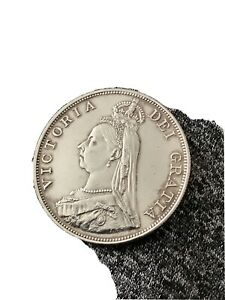 1888 Queen Victoria Silver Double Florin LOW MINTAGE VERY  RARE SUPERB CONDITION