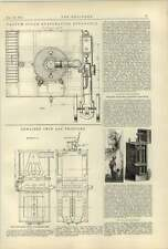 1887 Thwaites Twin Gas Producer Vacuum Sugar Evaporation Dynamo Ignition