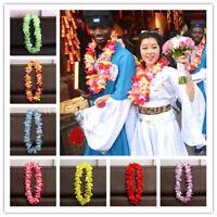 Hawaiian Flower leis Garland Necklace Fancy Dress Party Hawaii Beach Fun Decor