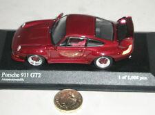 Voitures, camions et fourgons miniatures rouge MINICHAMPS acier embouti