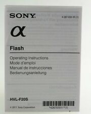 Bedienungsanleitung Sony a  Flash HVL-F20S HVL F20S Instruction
