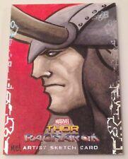 2017 Upper Deck Thor Ragnarok Loki 1/1 Sketch Card by ME! Mason Easley