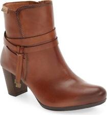NIB PIKOLINOS Verona Almond Toe Brown Leather Ankle Bootie Mid Boot 38/US 7.5-8