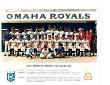 1975 OMAHA ROYALS 8X10 TEAM PHOTO KANSAS CITY NEBRASKA BASEBALL QUIRK WASHINGTON