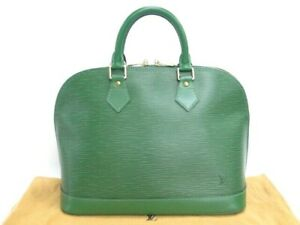 MNT Auth Louis Vuitton Hand Bag Alma Epi Leather Green France 13170310600 P