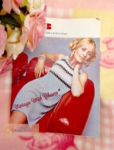 Vintage Knitting Pattern Lady's Dress. 3 Sizes, 32-36in. Bust
