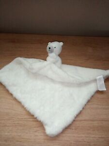 Sainsburys Tu  Bear Comforter Soother White NEW