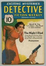 Detective Fiction Weekly Aug 8 1936 Cornell Woolrich