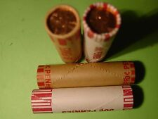 TWO ROLLS OF BU 2009 FORMATIVE YEARS  1P & 1-D ROLL BANK WRAPPED PENNYS