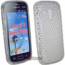 Cover For Samsung Galaxy S Duos S7562 Silicone Clear Gel Diamond