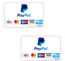 PayPal Credit Card Logo Decal Stickers Visa, M/C Discover, Amex Express Retail