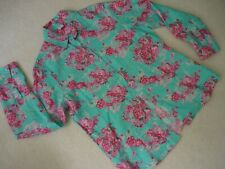 New Cotton Traders Linen Blend Blouse/Shirt/Top Size 12 Floral