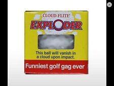 4 Exploding Trick Golf Balls gags golfing joke prank Novelty Funny Golfer Gift