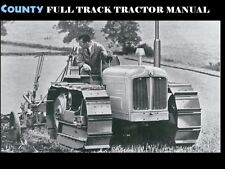 County Tractor Full Track Parts Manual & Attachment Guide for Repair & Service