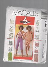 McCALL'S pattern 3257 Shorts tops capris  SZ 14 16 18 uncut