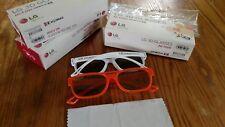 LG 3D Glasses AG-F200 Cinema 3D - 2 Pair Per Box (Orange/White)