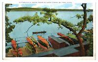 1938 Canoe Racks at Lake Phelan, St. Paul, MN Postcard *5N(2)26